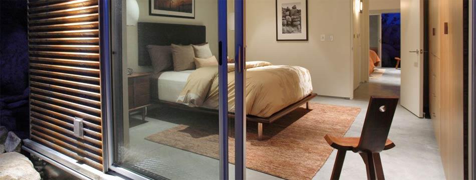 Schuifpui in slaapkamer